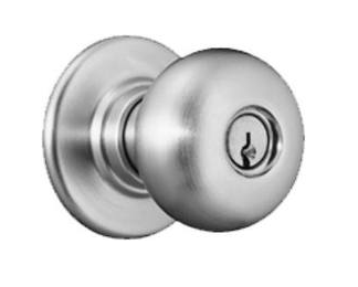 Schlage D Series Heavy Duty Plymouth Entrance Knob (D53PD) In Satin Chrome