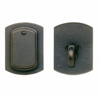 Rocky Mountain Curved Single Cylinder Dead Bolt DB511 in Silicon Bronze Dark