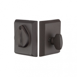Emtek 8465 #3 Style Single Cylinder Deadbolt Flat Black Patina (FB)