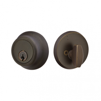 Emtek 8450-BZ Bronze Regular Style Single Cylinder Deadbolt Medium Bronze Patina