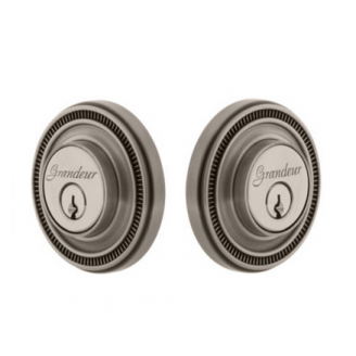 Grandeur Soleil Double Cylinder Deadbolt Antique Pewter