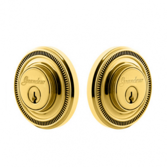 Grandeur Soleil Double Cylinder Deadbolt Lifetime Polished brass
