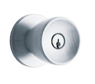 Schlage D Series Heavy Duty Tulip Entrance Knob (D53PD) in Satin Chrome (626)