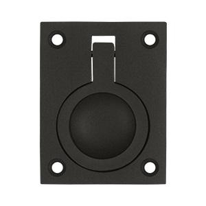 Deltana FRP25 Solid Brass Flush Ring Pull Oil Rubbed Bronze
