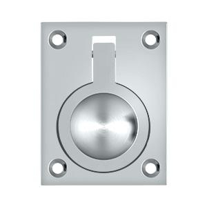 Deltana FRP25 Solid Brass Flush Ring Pull Polished Chrome