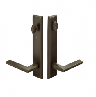 Emtek 1761 Configuration #7 SandCast Bronze RECTANGULAR Style Multi-Point Trim