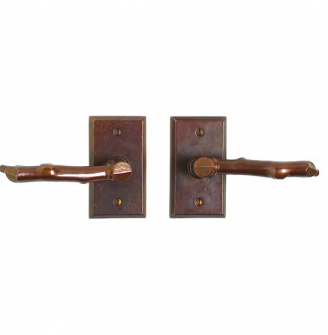 Rocky Mountain E414 Rectangular Escutcheon with Twig Lever