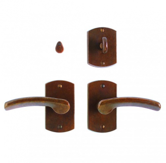 Rocky Mountain E504 Curved Escutcheon with choice of Knob or Lever