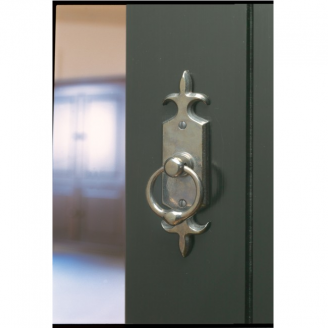 Rocky Mountain E828 Fleur De Lis Escutcheon with choice of Knob or Lever
