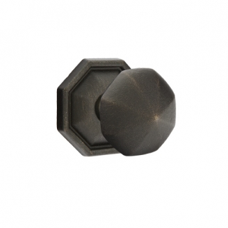 Emtek Octagon Door knob with #15 Rose Medium Bronze Patina