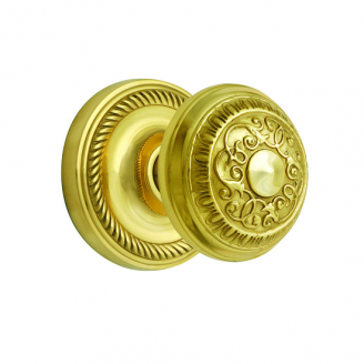 Nostalgic Warehouse Egg & Dart Privacy Mortise with Rope Rose Polished Brass
