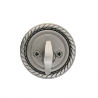 Emtek 8564 Rope Single Sided Deadbolt Pewter (US15A)
