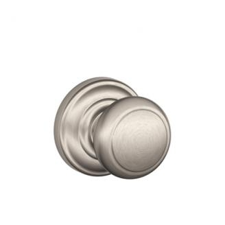 Schlage F10-AND-AND Andover Passage Door Knob Set with Andover Rose (619)