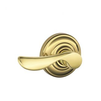 Schlage F170CHP605AND Champagne Single Dummy Door Lever Set with Andover Rose