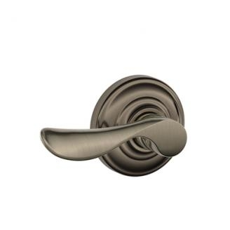 Schlage Champagne Lever with Andover Decorative Rose Antique Pewter