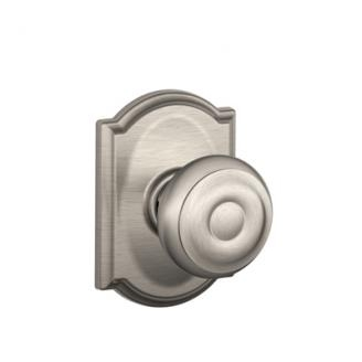 Schlage F10GEO619CAM Georgian Passage Door Knob Set with Camelot Rose