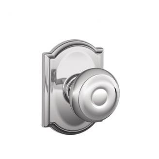 Schlage F10GEO625CAM Georgian Passage Door Knob Set with Camelot Rose