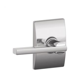 Schlage F10LAT615CEN Latitude Passage Door Lever Set with Century Rose