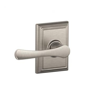 Schlage F10VLA619ADD Avila Passage Door Lever Set with Addison Rose
