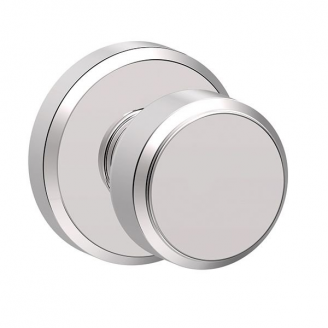 Schlage F10BWE625GSN Bowery Passage Door Knob with Greyson Rose Bright Chrome