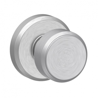 Schlage F10BWE626GSN Bowery Passage Door Knob Set with Greyson Rose Satin chrome