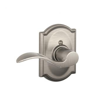 Schlage F170ACC619CAM Accent Single Dummy Door Lever Set with Camelot Rose