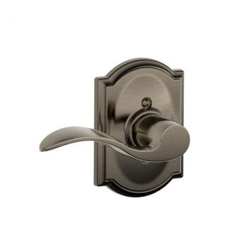 Schlage F170ACC620CAM Accent Single Dummy Door Lever Set with Camelot Rose
