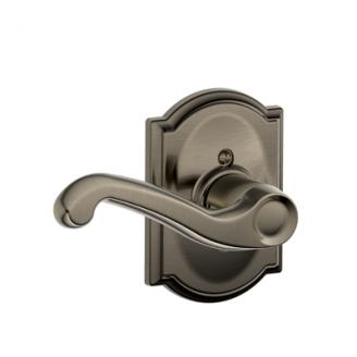 Schlage F170FLA620CAM Flair Single Dummy Door Lever Set with Camelot Rose