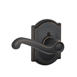 Schlage F170FLA716CAM Flair Single Dummy Door Lever Set with Camelot Rose
