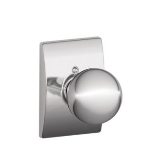 Schlage Orbit Knob with Century Decorative Rose Bright Chrome