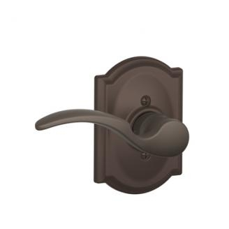 Schlage F170STA613CAM St. Annes Single Dummy Door Lever Set with Camelot Rose