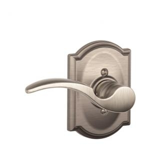 Schlage F170STA619CAM St. Annes Single Dummy Door Lever Set with Camelot Rose
