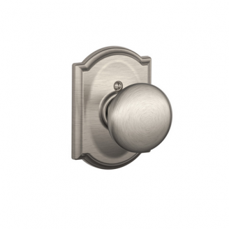 Schlage F170PLY619CAM Plymouth Single Dummy Door Knob with Camelot Rose