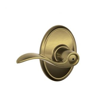 Schlage F40ACC609WKF Accent Privacy Door Lever Set with Wakefield Rose