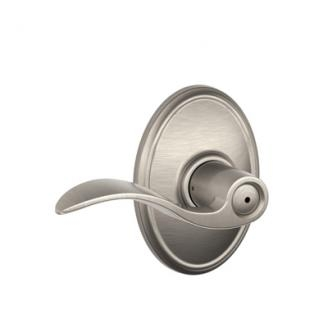 Schlage F40ACC619WKF Accent Privacy Door Lever Set with Wakefield Rose