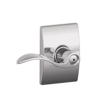 Schlage F40ACC625CEN Accent Privacy Door Lever Set with Century Rose