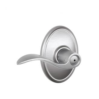 Schlage F40ACC626WKF Accent Privacy Door Lever Set with Wakefield Rose