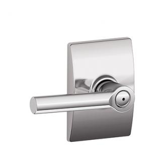 Schlage F40BRW625CEN Broadway Privacy Door Lever Set with Century Rose