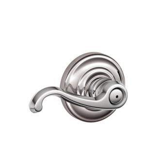 Schlage Callington Lever with Andover Decorative Rose Bright Chrome