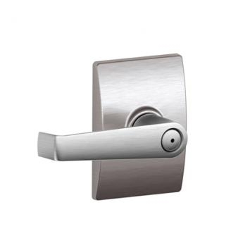 Schlage Elan Lever with Century Decorative Rose Satin Chrome
