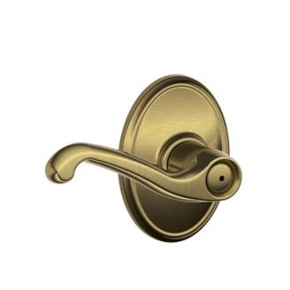Schlage F40FLA609WKF Flair Privacy Door Lever Set with Wakefield Rose