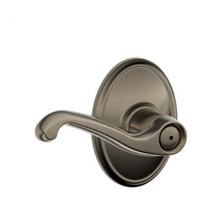 Schlage F40FLA620WKF Flair Privacy Door Lever Set with Wakefield Rose