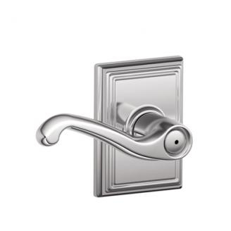 Schlage F40FLA625ADD Flair Privacy Door Lever Set with Addison Rose