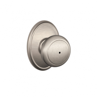 Schlage F40AND619WKF Andover Privacy Door Knob Set with Wakefield Rose