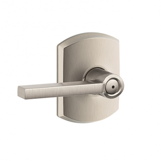 Schlage F40LAT619GRW Latitude Lever with Greenwich Decorative Rose