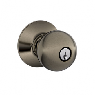 Schlage F51A-Orb-620 Keyed Entry Antique Pewter 620