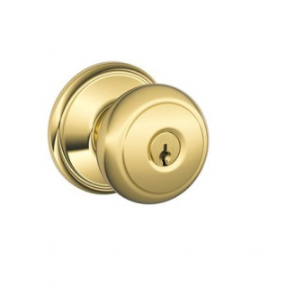 Schlage F51A-AND-605 keyed entry 605 Bright Brass