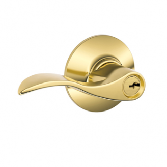 Schlage Accent F51 Acc Keyed Entry 505 Lifetime Bright Brass