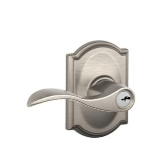 Schlage F51ACC619CAM Accent Keyed Entry Lever Set with Camelot Rose