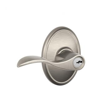 Schlage F51ACC619WKF Accent Keyed Entry Door Lever Set with Wakefield Rose